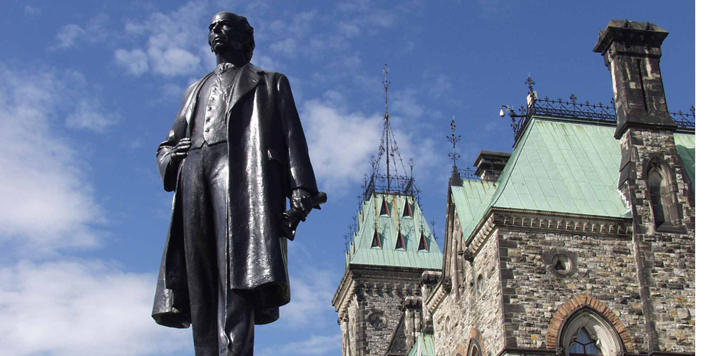 Statue of WIlfrid Laurier in Ottawa