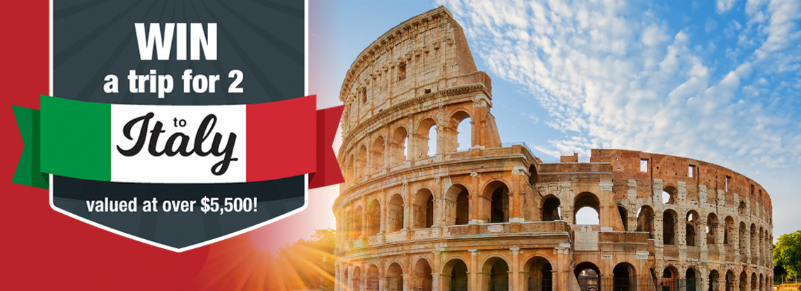 OTIP: WIn a trip to Italy